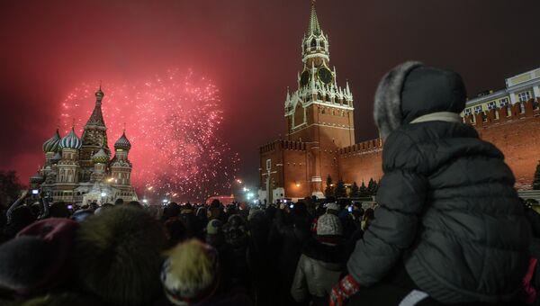 Празднование Нового года на Красной площади