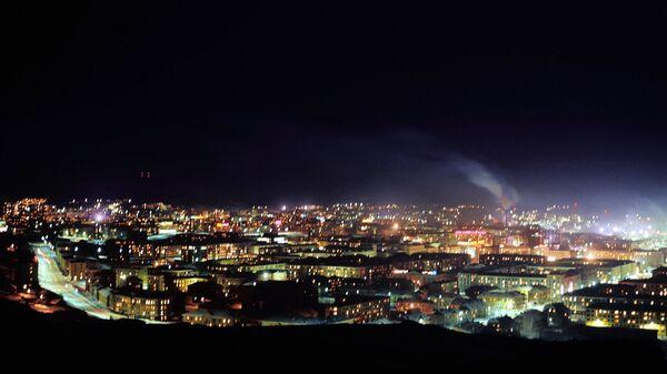 Полярная ночь в Мурманске. Архивное фото