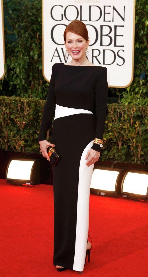 Актриса Джулианна Мур на церемонии вручения премии «Золотой глобус»