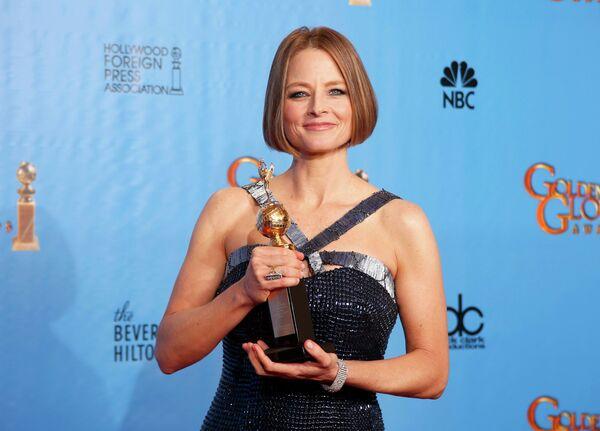 Актриса Джоди Фостер на церемонии вручения премии «Золотой глобус»
