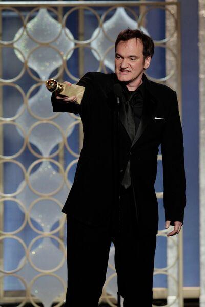 Американский кинорежиссёр Квентин Тарантино на церемонии вручения премии «Золотой глобус»