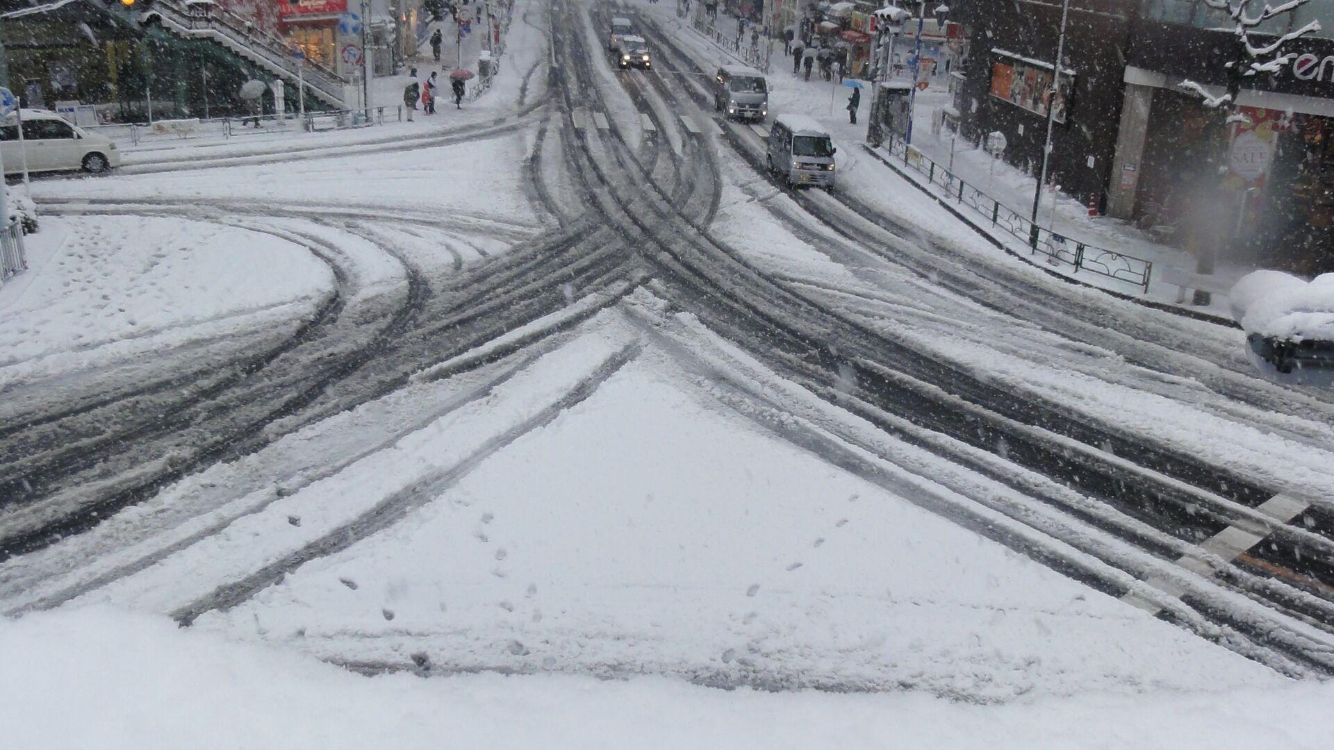 Снегопад в Токио - РИА Новости, 1920, 19.12.2020