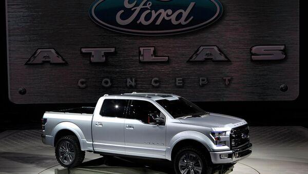 Автомобиль Ford Atlas на автосалоне в Детройте, США