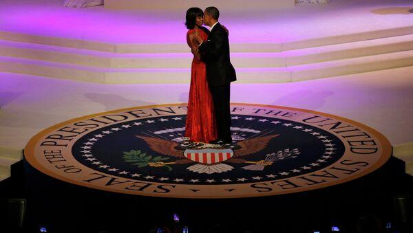 Барак и Мишель Обама на инаугурационном балу Главнокомандующего