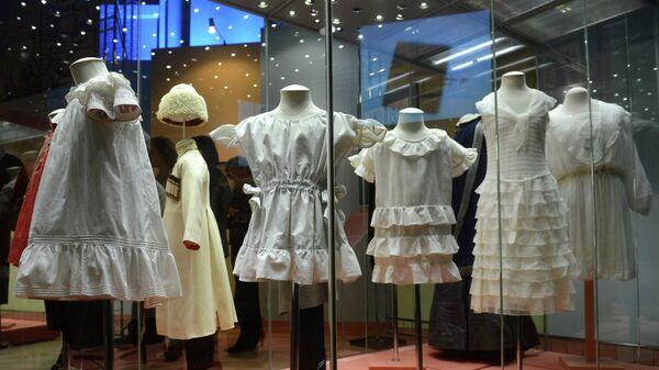 Открытие выставки детского костюма в Историческом музее