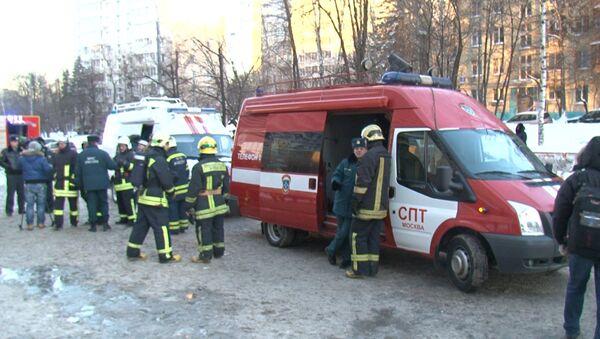 Пожар на юго-западе в Москве. Архив