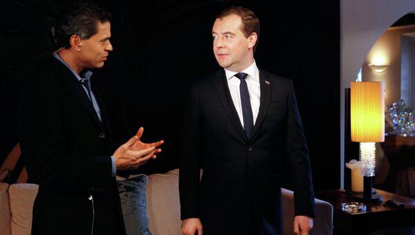 Интервью Д. Медведева телерадиовещательной корпорации CNN