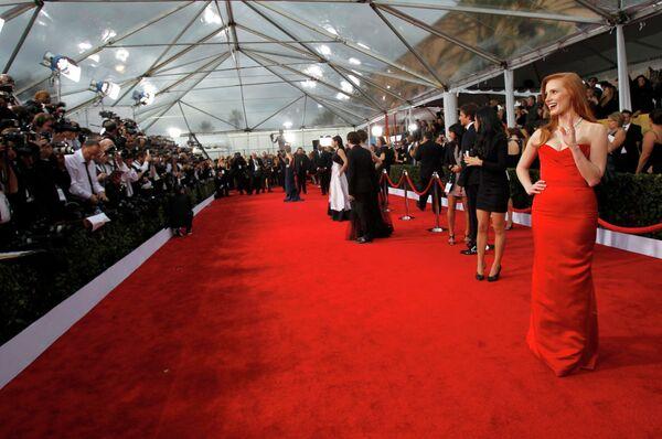 Актриса Джессика Честейн на 19-ой церемонии вручения премии Гильдии киноактеров США