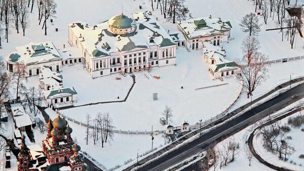 Вид с телебашни на Останкинский дворец-музей