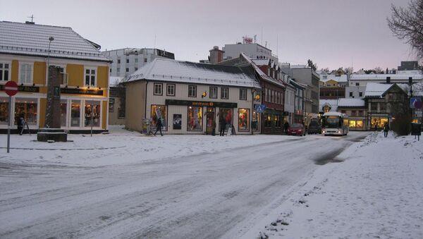 Город Тромсё. Одна из центральных улиц. Архивное фото