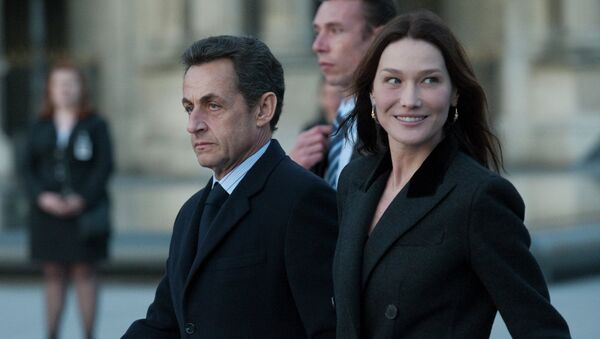 Николя Саркози с Карлой Бруни. Архив