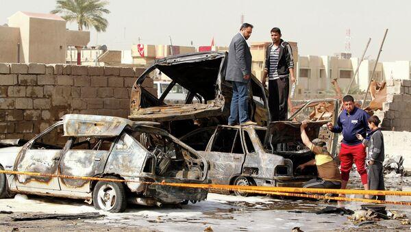 Последствия взрывов в Багдаде
