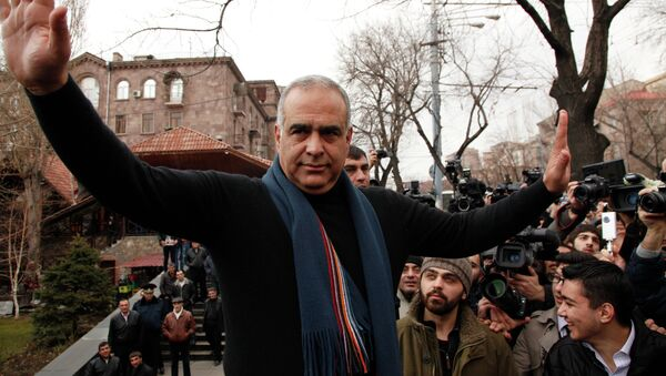 Митинг сторонников Раффи Ованнисяна в Ереване