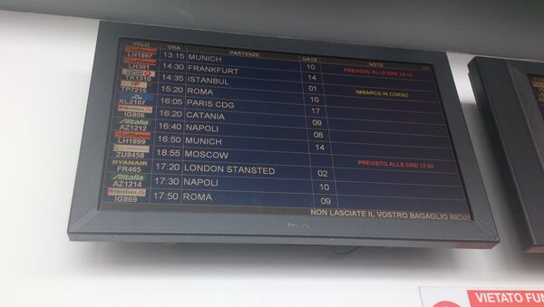 Задержка рейса ВИМ-авиа с россиянами в Италии