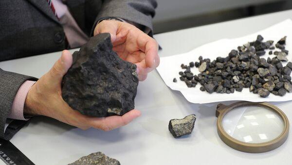 Изучение осколков метеорита, найденных в Челябинской области. Архив