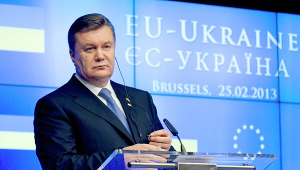 Президент Украины Виктор Янукович на XVI саммите Украина - Европейский Союз в Брюсселе. Архив