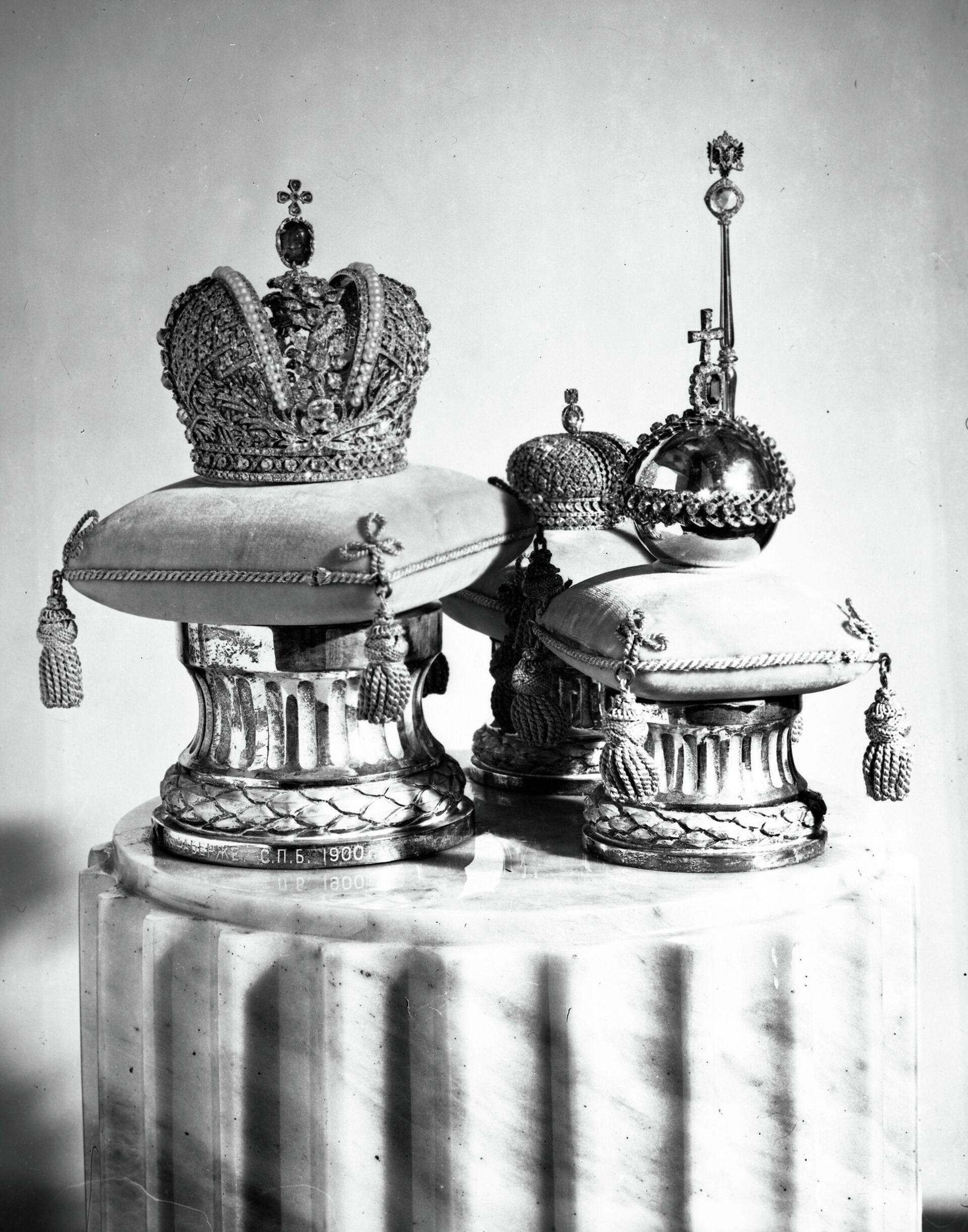 Корона и скипетр работы Карла Фаберже - РИА Новости, 1920, 09.02.2021
