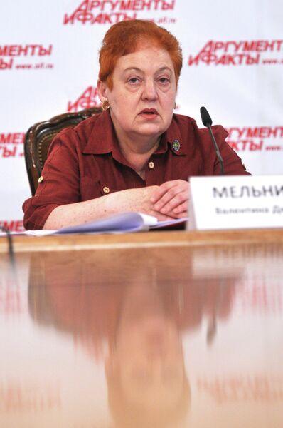 Пресс-конференция секретаря Союза комитетов солдатских матерей России Валентины Мельниковой