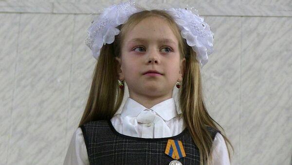 София Панова с медалью