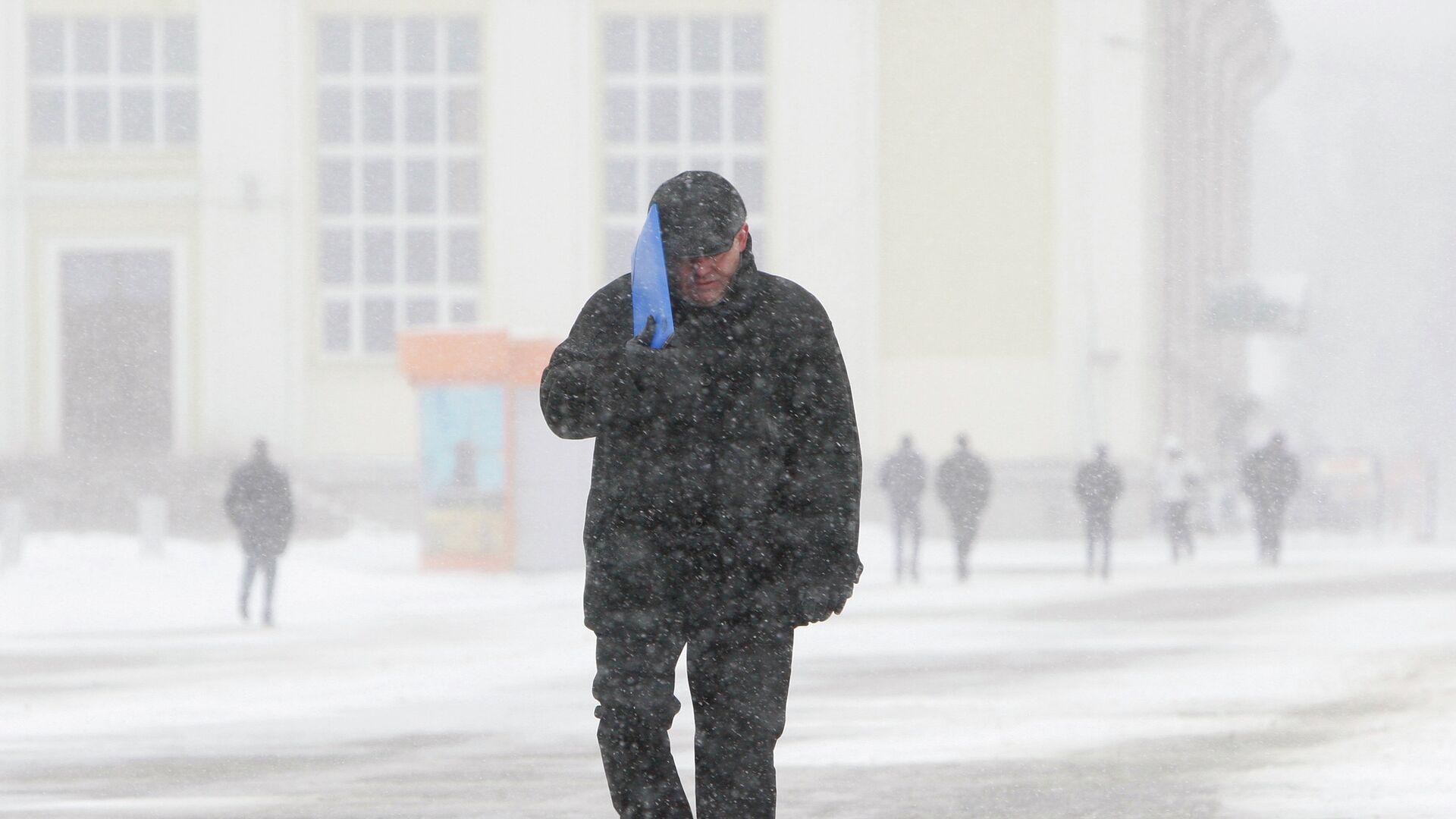 Европейский циклон добрался до Минска - РИА Новости, 1920, 21.11.2020