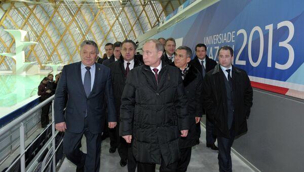 Президент РФ Владимир Путин во время рабочей поездки в Казань