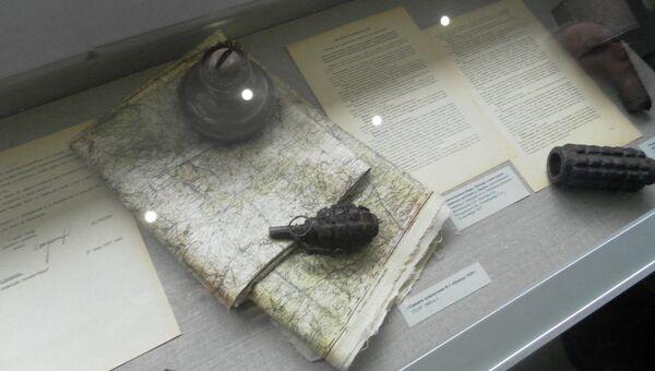Экспонаты музея на месте мемориального комплекса Хацунь