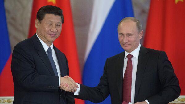 Владимир Путин и Си Цзиньпин. Архивное фото.
