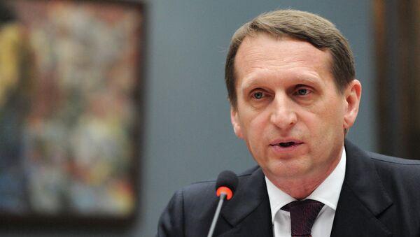 Председатель Госдумы Сергей Нарышкин, архивное фото