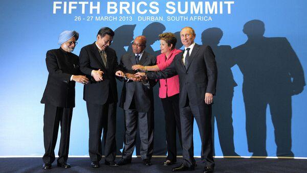 Лидеры саммита БРИКС в южно-африканском Дурбане
