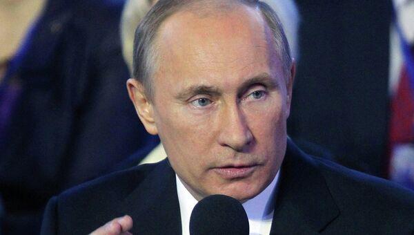 В. Путин на конференции Общероссийского народного фронта