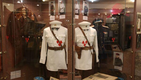 В музее своя коллекция формы разных лет, которую носили сотрудники органов внутренних дел