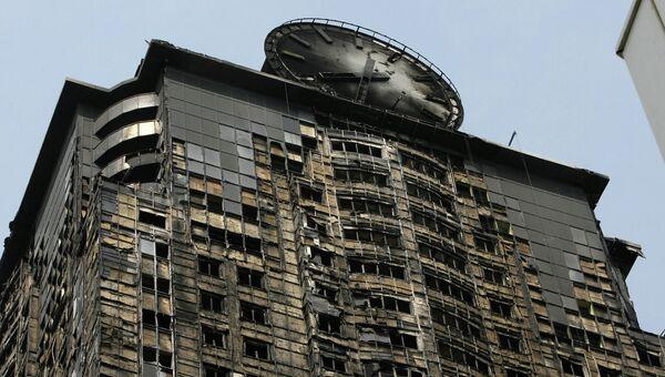 Ликвидация последствий пожара в Грозный-сити