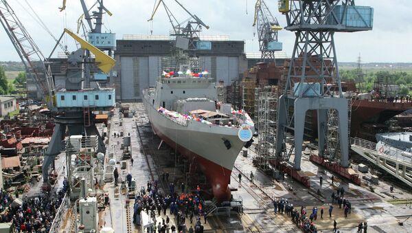 Фрегат Trikand для ВМС Индии в Калининграде