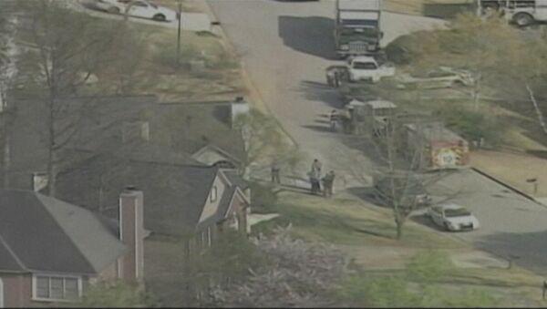 Первые кадры с места захвата в заложники пожарных в США