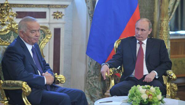 Ислам Каримов и Владимир Путин. Архивное фото