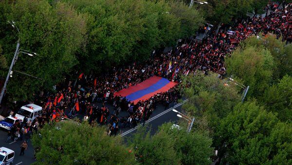 Факельное шествие в память жертв геноцида в Армении. Архивное фото