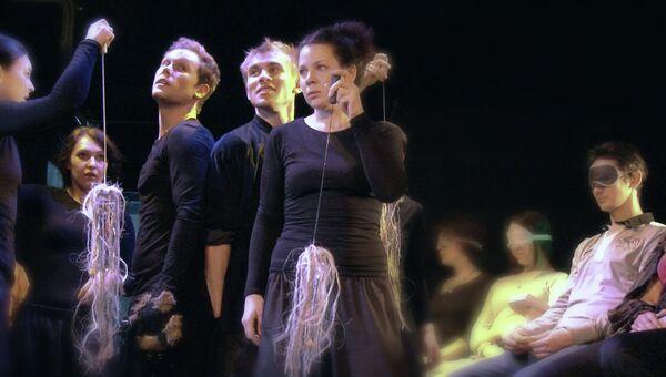 Репетиция спектакля Московского театра Кукол Майская ночь по Гоголю для слепых