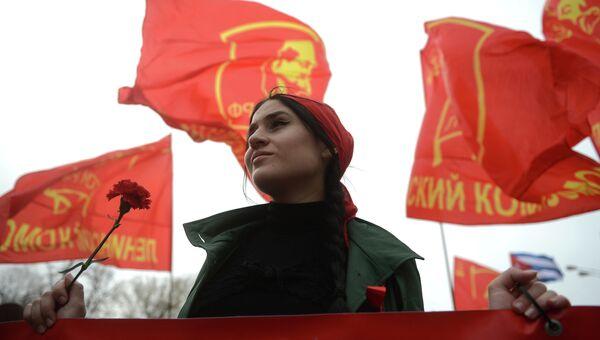 Шествие и митинг КПРФ в Москве. Архивное фото