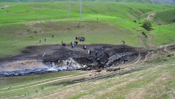 Место крушения самолета ВВС США на границе Киргизии и Казахстана