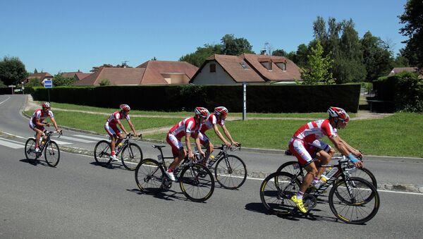 Тренировка российской команды Катюша, архивное фото