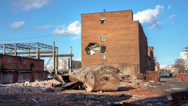 Cнос цехов жиркомбината в центре Новосибирска
