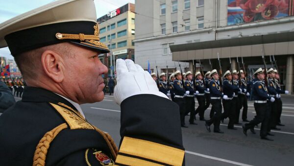 Репетиция парада Победы в Калининграде. Архивное фото