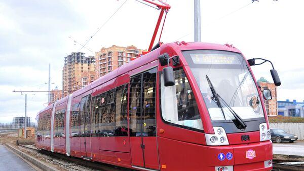 Первый скоростной трамвай запустили в Казани