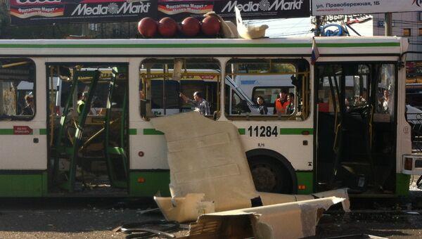 Газовый баллон взорвался в автобусе Москве