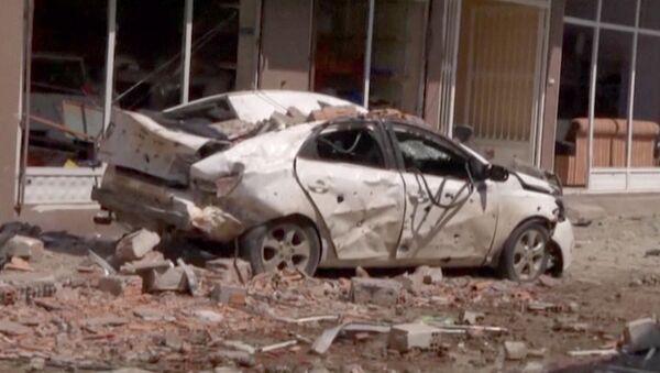 Кадры с места взрывов в городе Рейханлы на юго-востоке Турции