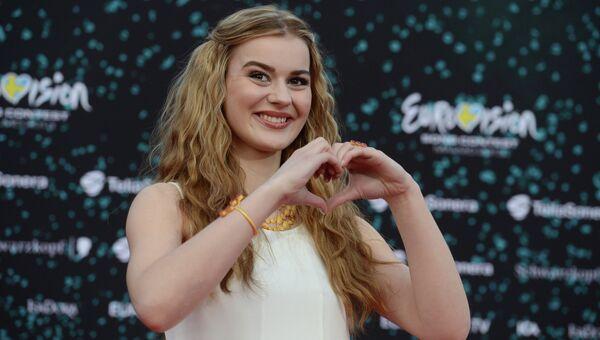 Эммили де Форест на открытии международного конкурса песни Евровидение-2013