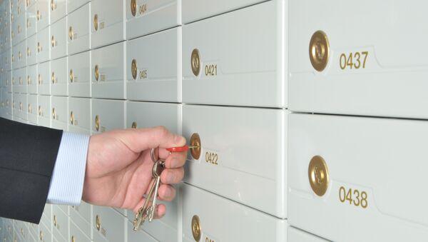 Банковские ячейки, архивное фото