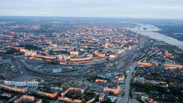 Новосибирск с верхней точки