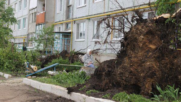 Последствия смерча в городе Ефремов Тульской области