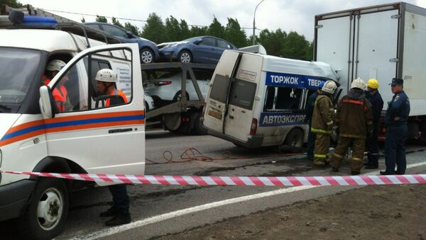 ДТП на трассе М-10 в Калининском районе Тверской области